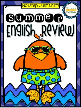 No Prep, Just Print! Summer Review Literacy Pack Grade 1