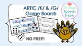 No Prep K & G Articulation Fronting Game Boards