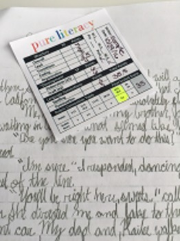 No Prep Kinder Writing Rubric Sticky Notes Scoring Tool