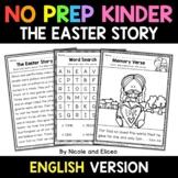 No Prep Kindergarten Easter Story Bible Lesson - Distance