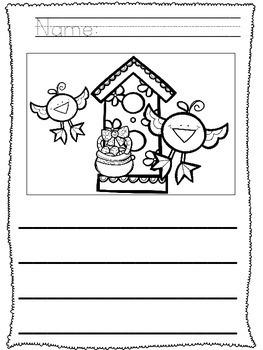 No Prep!! Kindergarten Easter Writing - Journal - Writing Workshop - Center