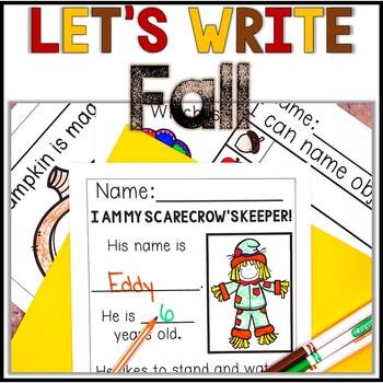 No Prep! Kindergarten Fall Writing - Journal - Writing Workshop - Center