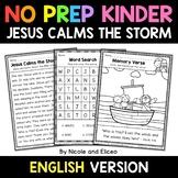 No Prep Kindergarten Jesus Calms the Storm Bible Lesson -