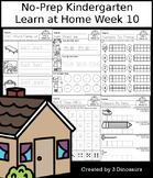 No-Prep Kindergarten Learning At Home Week 10: Distance Learning