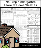 No-Prep Kindergarten Learning At Home Week 12: Distance Learning
