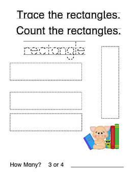 No Prep Kindergarten Math Morning Work-Geometry-School Animal Theme