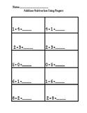 No Prep, Kindergarten Math Worksheets, Addition/Subtraction Using Fingers
