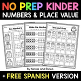 No Prep Kindergarten Numbers and Place Value - Distance Learning