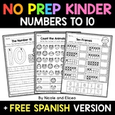 No Prep Kindergarten Numbers to 10 - Distance Learning