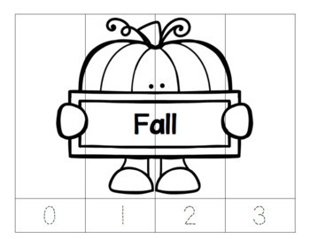No Prep-Kindergarten Puzzles Bundle-3 CCSS
