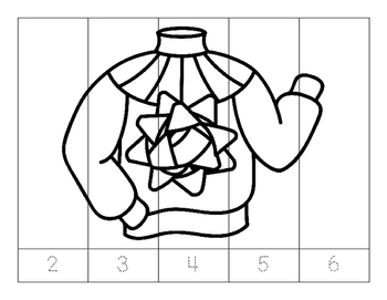 No Prep-Kindergarten Puzzles-  Count,Trace, Color, Cut, and Paste-3 CCSS