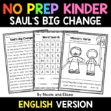 No Prep Kindergarten Sauls Big Change Bible Lesson - Dista