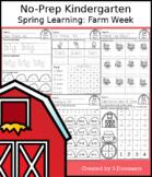 No-Prep Kindergarten Spring Learning: Farm Week - Distance