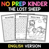 No Prep Kindergarten The Lost Sheep Bible Lesson - Distanc