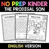 No Prep Kindergarten The Prodigal Son Bible Lesson - Dista