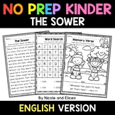 No Prep Kindergarten The Sower Bible Lesson - Distance Learning