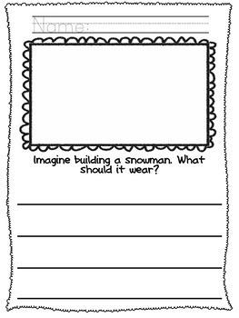 No Prep! Kindergarten Winter Writing Activities!