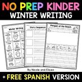 No Prep Kindergarten Winter Writing - Distance Learning