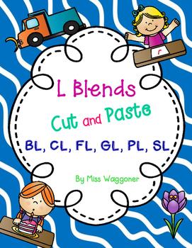 No Prep L Blends BL, CL, FL, GL, PL, and SL Cut and Paste Bundle