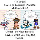 No Prep Language Arts and Math Summer Packet- 4th Grade--B