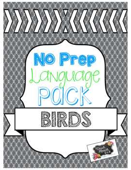 No Prep Language Pack: Birds