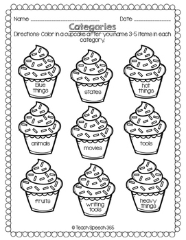 No Prep Language Pack: Cupcakes