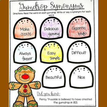 No Prep Language Worksheets and Homework - Gingerbread Themed