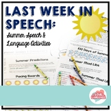 No Prep End of the Year in Speech--Countdown to Summer!