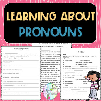 No-Prep - Learning about Pronouns