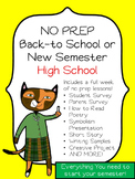 No Prep Lessons High School English - Back to School