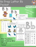 No Prep Letter Bb Packet!