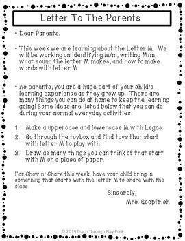 No Prep Letter Mm Packet!