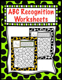 No Prep Letter Recognition Worksheet  (by Priscilla Beth @Daycare Support)