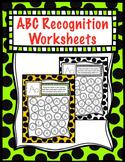 No Prep Letter Recognition Worksheet  (by Priscilla Beth @