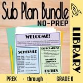 No Prep Library Sub Plans Bundle: PreK-5