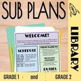 No Prep Library Sub Plans: Grades 1 and 2
