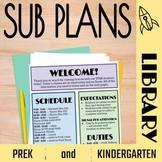 No Prep Library Sub Plans: PreK and Kindergarten