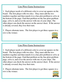 No Prep Line Plots Game - 4.MD.B.4
