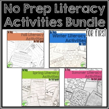 No Prep Literacy Activities for First Grade