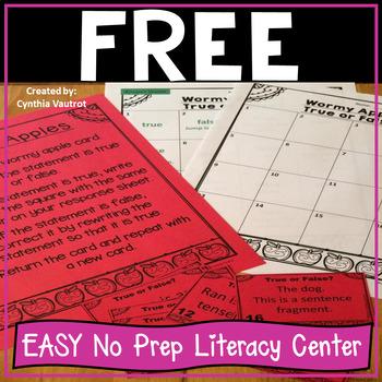 No Prep Literacy Centers FREE Sampler {2nd-4th}