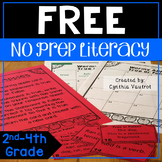 No Prep Literacy Centers FREE Sampler {2nd-4th}