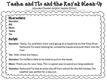 No-Prep Literacy Packet & Readers Theater Script Tasha/Tio Fall Bundle