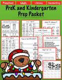 No Prep Literacy Preschool Christmas Packet