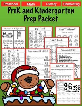 No Prep Literacy Preschool Christmas Packet