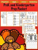 No Prep Literacy Preschool Thanksgiving Packet