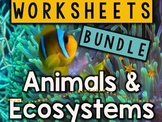 Animals & Ecosystems Worksheets & Printables Bundle