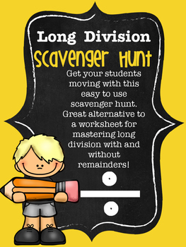 No Prep Long Division Scavenger Hunt Activity
