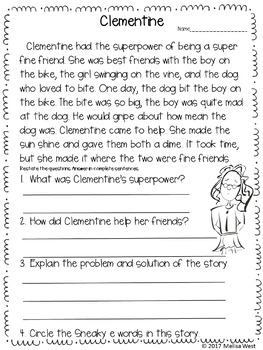 NO PREP Long I Sneaky E Comprehension Stories and Word Sorts