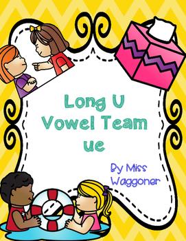 No Prep Long U Vowel Team UE Activities and Printables