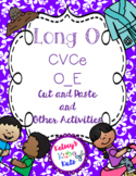 No Prep Long Vowel O CVCe, O_E Hands on Cut and Paste and Other Activities
